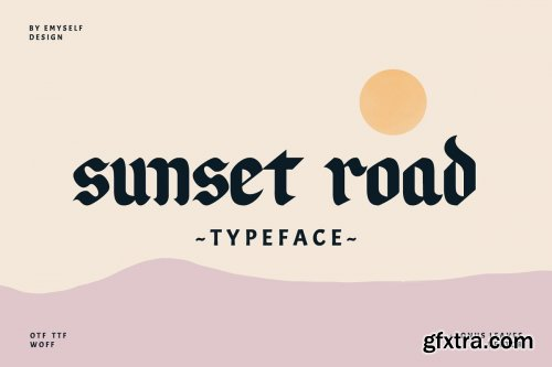 CreativeMarket - Sunset Road Typeface 3887833