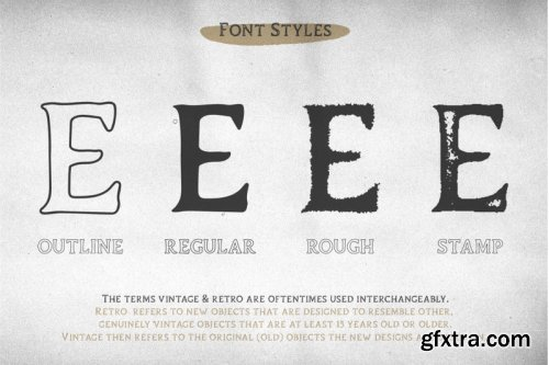 CreativeMarket - Duskey - Vintage Serif Font + Extras 3881137