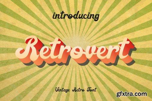 CreativeMarket - Retrovert - Retro Script (+Bonus) 3896533