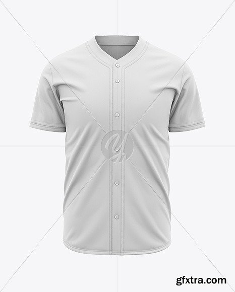 Men\'s Baseball Jersey Mockup - Front View 45647
