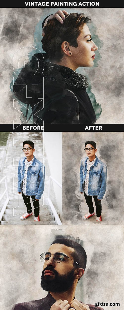 GraphicRiver - Vintage Painting Effect Action 23991009