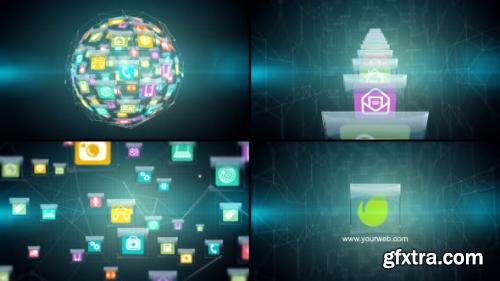 VideoHive Hitech Glassy Icons Logo Revealer 8348026