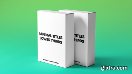 VideoHive Minimal Titles and Lower Thirds 23069999