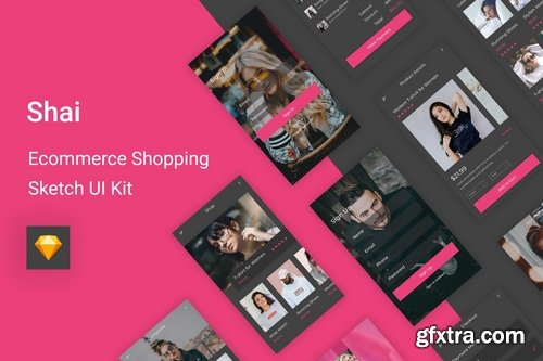 UI Kit Pack for Figma Adobe XD and Sketch