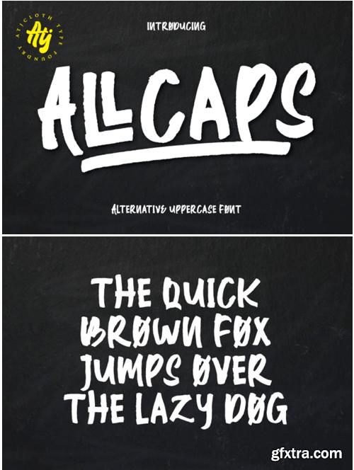 All Caps Font