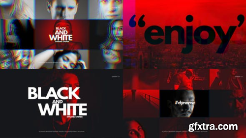 VideoHive Black And White Dynamic Opener 23657157