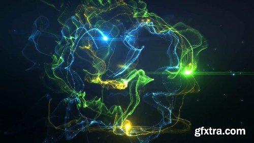 Videohive Colorful Trails Logo Intro 20843672