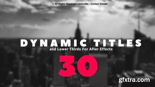 Videohive - Dynamic Titles and Lower Thirds - 23918291