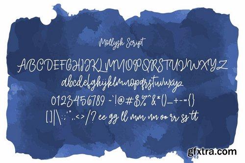 CM - Mollysh Calligraphy Font 3924743-