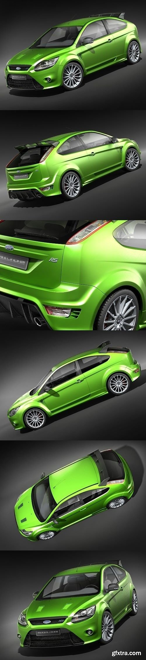 Ford Focus RS 2009 3D Model
