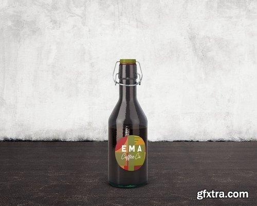 6 Beer Coffee Milk Bottles Mockups 1