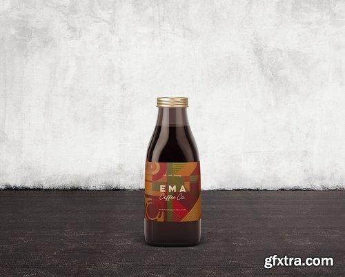 6 Beer Coffee Milk Bottles Mockups 3