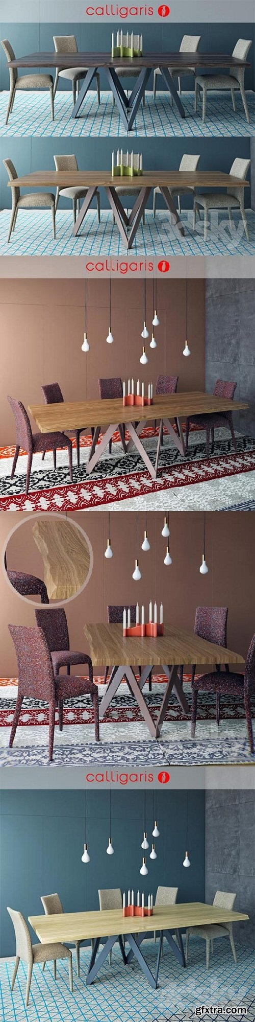 Calligaris table CARTESIO Table AN?IS Chair