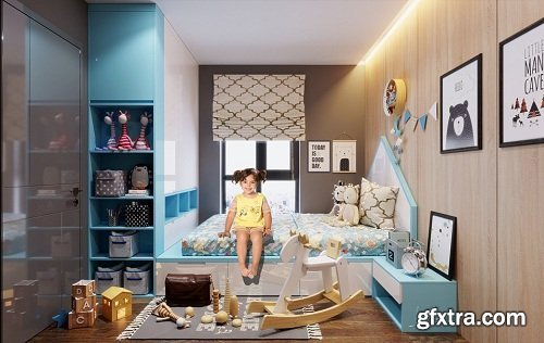 Children Bedroom 06 3d Model