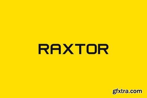 CM - RAXTOR - Display Headline Typeface 3933877