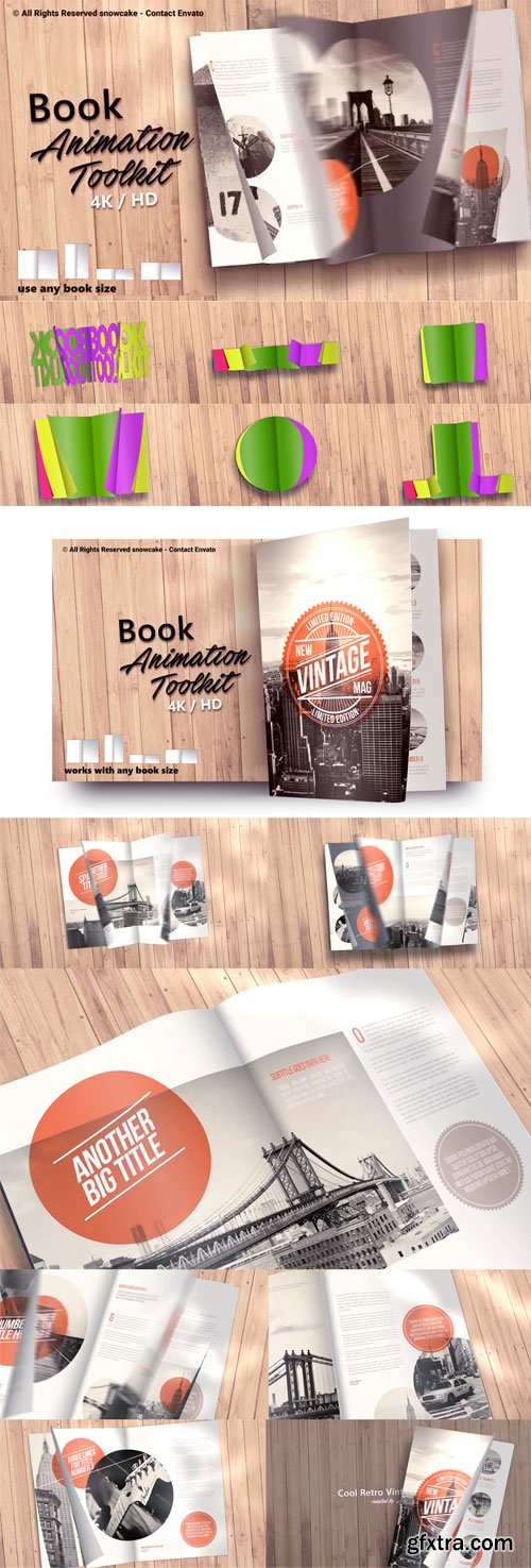 Videohive - Book Animation Toolkit - 21751656 (Update 29 May 19)