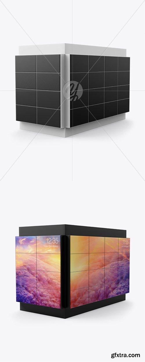 Corner LED Video Wall Mockup - Half Side View 39915