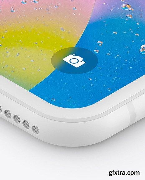 iPhone XR Clay Isometric Left Mockup 46114