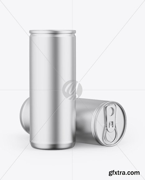 Two Matte Metallic Cans Mockup 46093