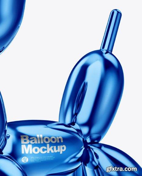 Dog Balloon Mockup - Half Side View 46112