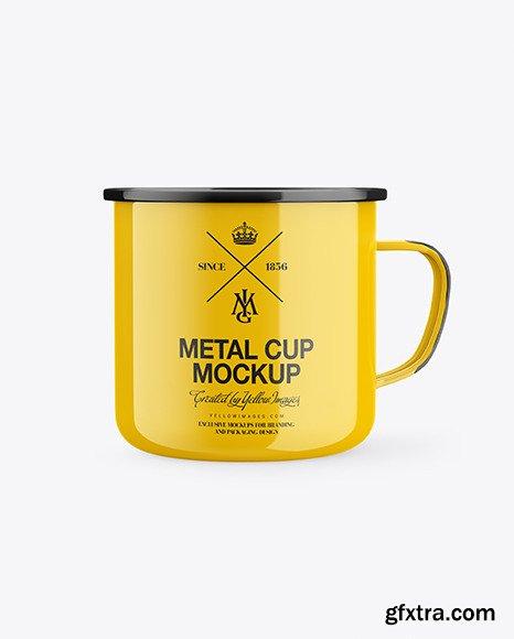Glossy Enamel Cup Mockup 46123