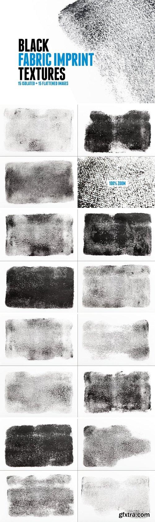 15 Black Fabric Imprint Textures