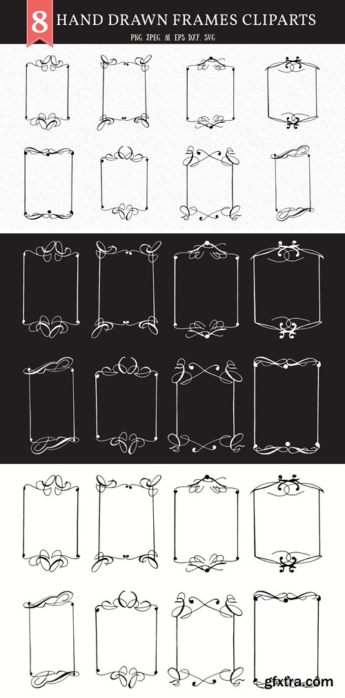 Hand Drawn Frames Cliparts