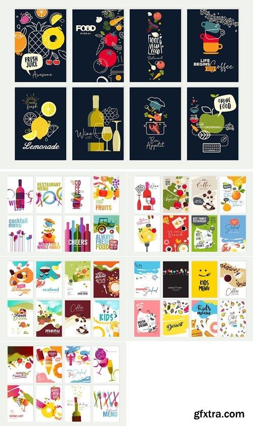 Stock Vector - Set of menu and brochure design templates