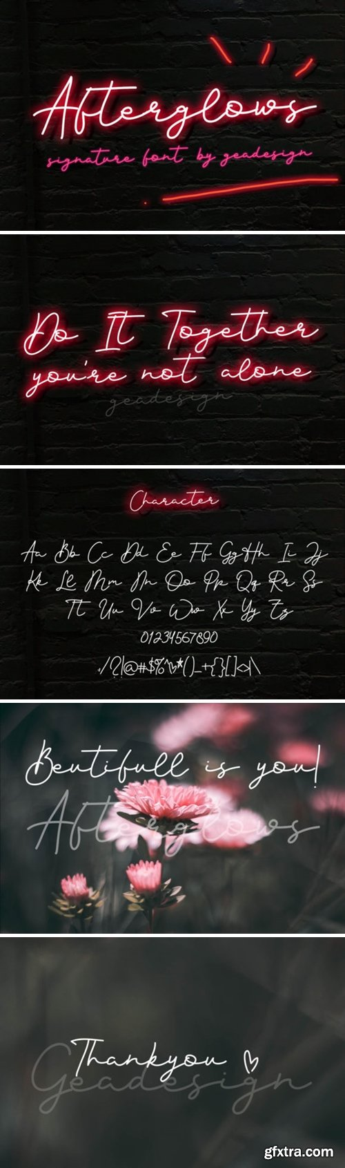 Afterglows Font