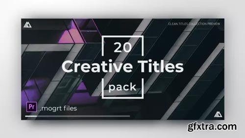 Videohive - Minimal Clean Titles | For Premiere Pro - 23251128