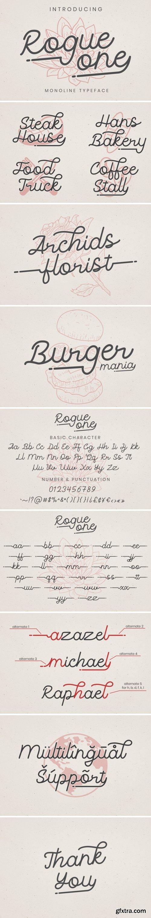 Fontbundles - Rogue One Font 290311
