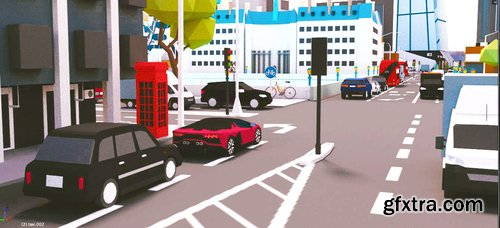 Cgtrader - Low Poly London City-poly 3D model-POLYGON Low-poly 3D model