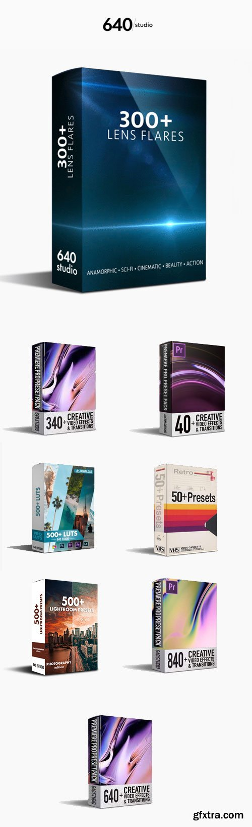 640Studio - All Products Bundle! For GFXTRA Lover'S