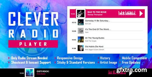 CodeCanyon - CLEVER v1.1 - HTML5 Radio Player With History - Shoutcast and Icecast - WordPress Plugin - 23950259