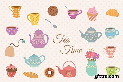 Tea Time Hand Drawn
