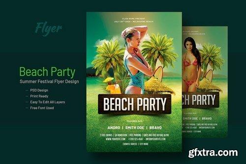 Summer Beach Party Flyer Template V-17