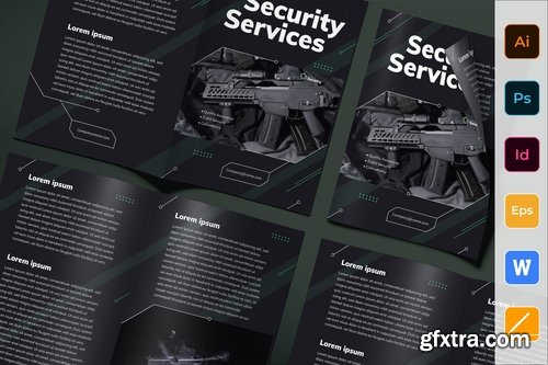 Security Services Poster Flyer Business Card Brochure Bifold Trifold