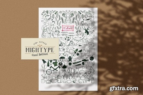 MIghtype Hand Sketched Vector Pack