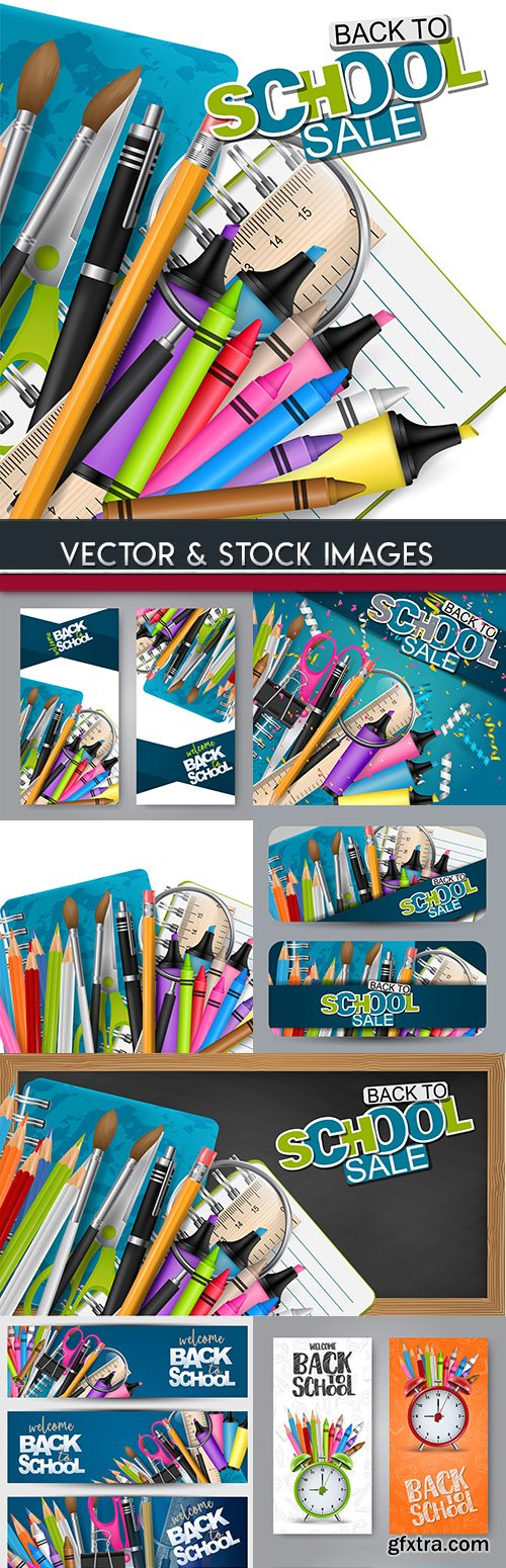 Back to school and accessories element illustration 21