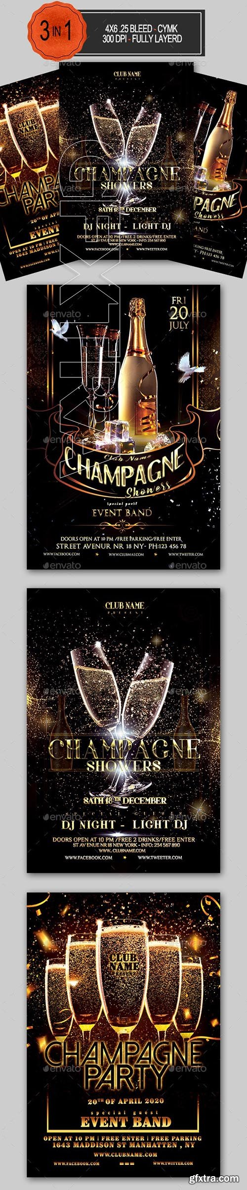GraphicRiver - Champagne Party Flyer Bundle 24089199