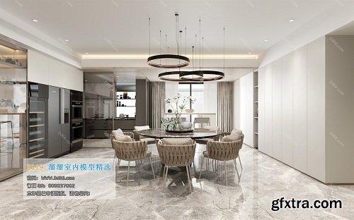 Dining Room & Kitchen Interior Scene 05 (2019)