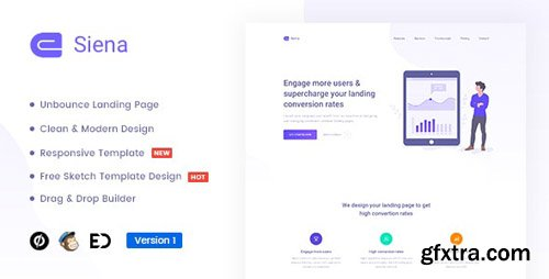 ThemeForest - Siena v1.0 - Marketing Unbounce Landing Page Template - 22993523