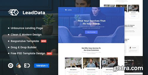 ThemeForest - LeadData v1.0 - Lead Generation Unbounce Landing Page Template - 22886414