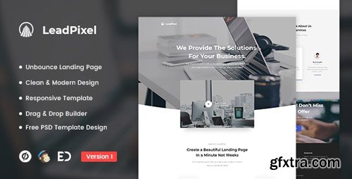 ThemeForest - LeadPixel v1.0 - Agency Unbounce Landing Page Template - 22543155