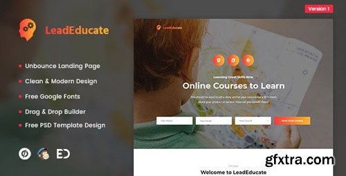 ThemeForest - LeadEducate v1.0 - Education Unbounce Landing Page Template - 22514411