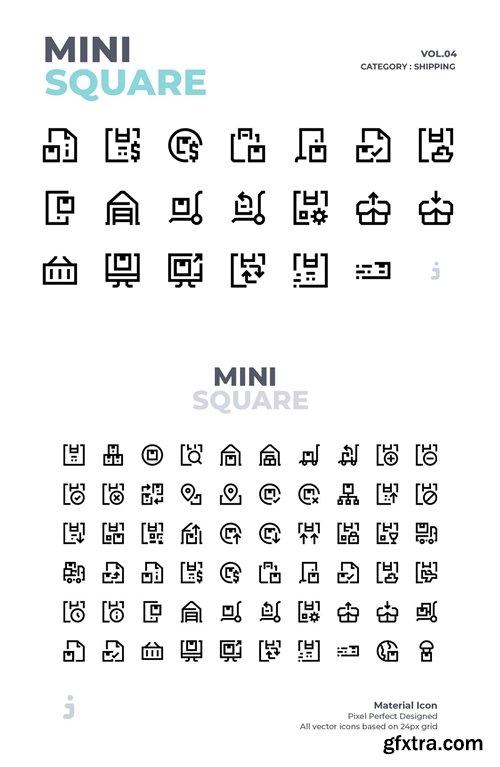 Mini square - 60 Shipping Icons