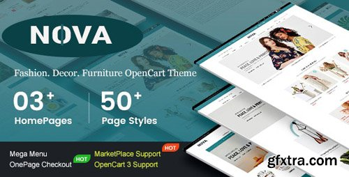 ThemeForest - Nova v1.0.0 - Responsive Fashion & Furniture OpenCart 3 Theme with 3 Mobile Layouts Included - 23783518