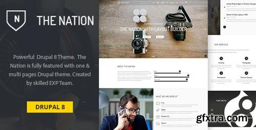 ThemeForest - Nation v1.0.0 - One & multi pages Drupal 8 theme - 23483747