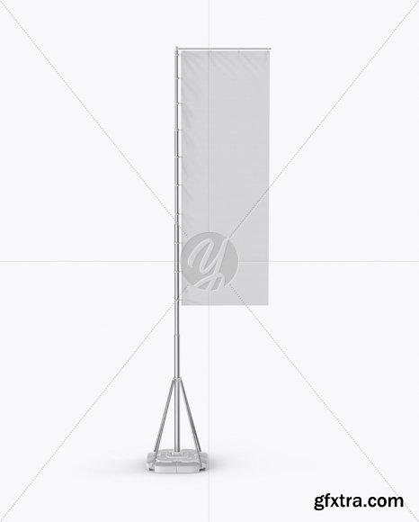 Vertical Sail Flag Mockup 19493