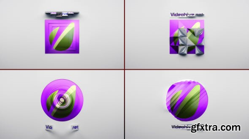 VideoHive Classic Logo Reveal 4x1 Pack 6360666